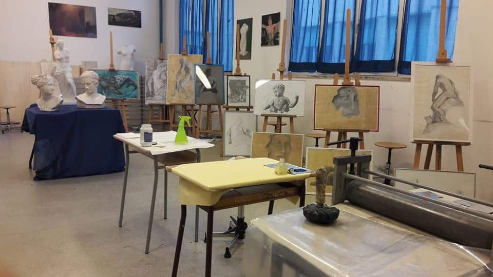 Laboratorio di pittura e scultura Liceo Artistico Grafico