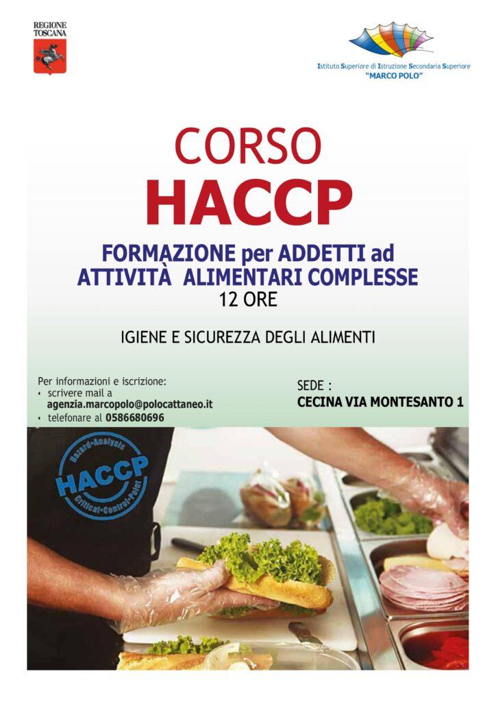 corso HACCP per tutti Isiss marco Polo Cecina